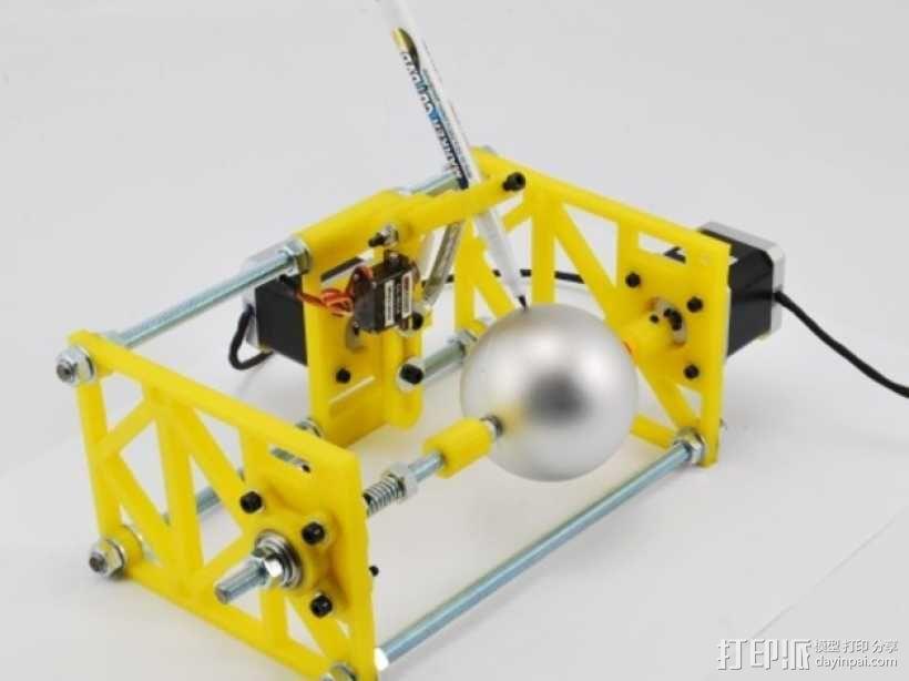 SphereBot画球机 3D模型  图3