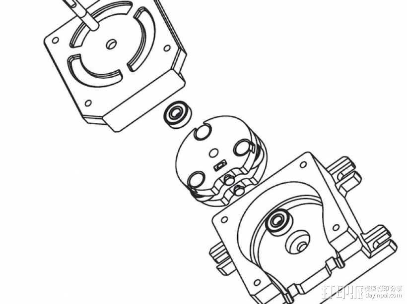 蠕动泵/软管泵 3D模型  图7