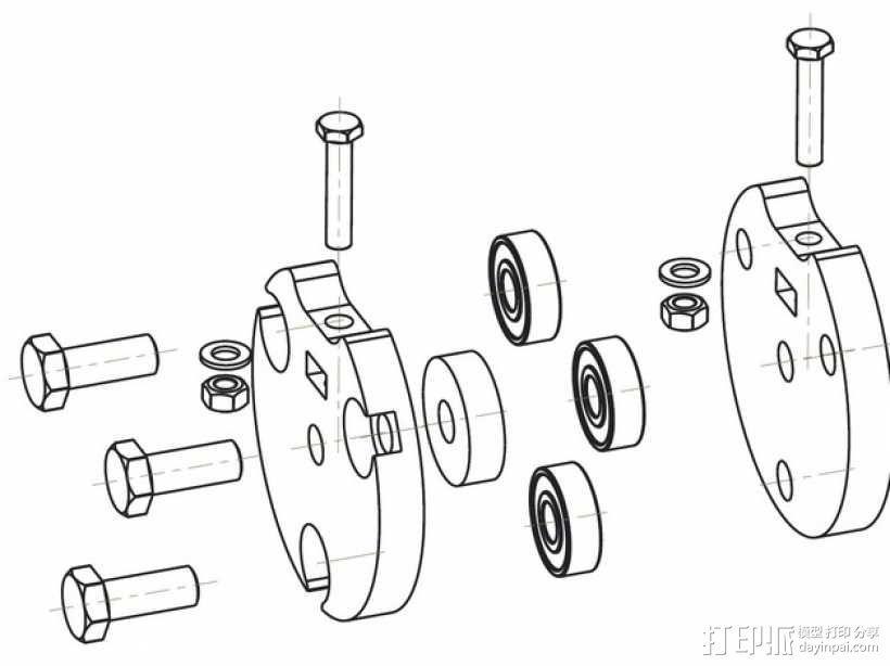蠕动泵/软管泵 3D模型  图9