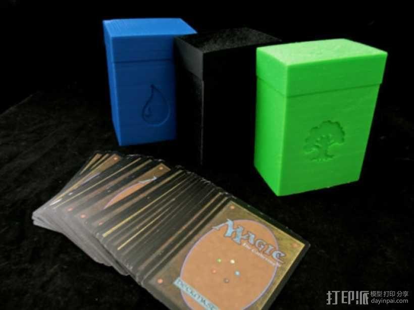 万智牌MTG卡片收纳盒 3D模型  图1