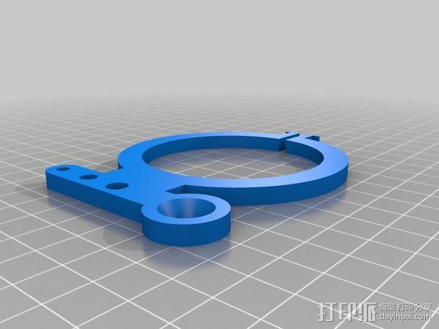 钻床夹头固定架 3D模型  图2