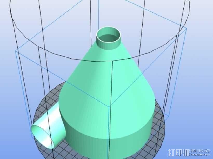 定制化旋风分离器 3D模型  图2