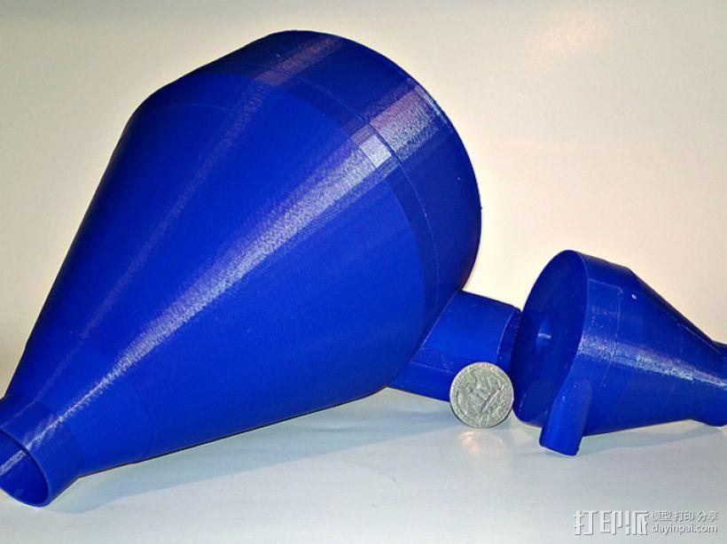 定制化旋风分离器 3D模型  图1