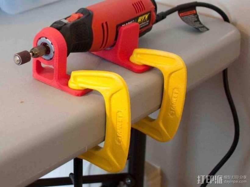 电动雕刻机 收纳架 3D模型  图1