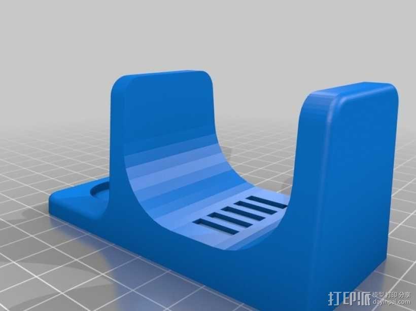 电动雕刻机 收纳架 3D模型  图3