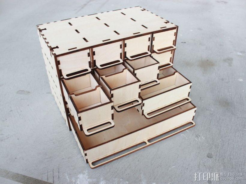 定制化零件盒 3D模型  图1