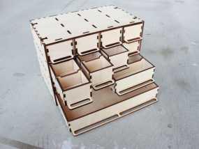 定制化零件盒 3D模型