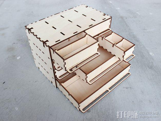 定制化零件盒 3D模型  图2