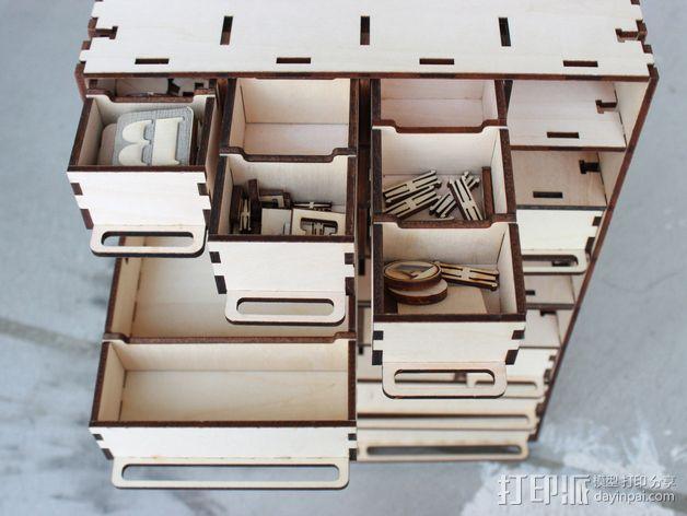定制化零件盒 3D模型  图4