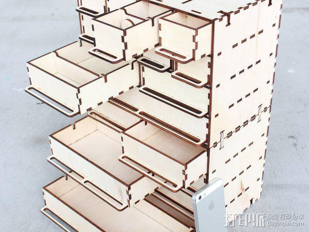 定制化零件盒 3D模型  图6