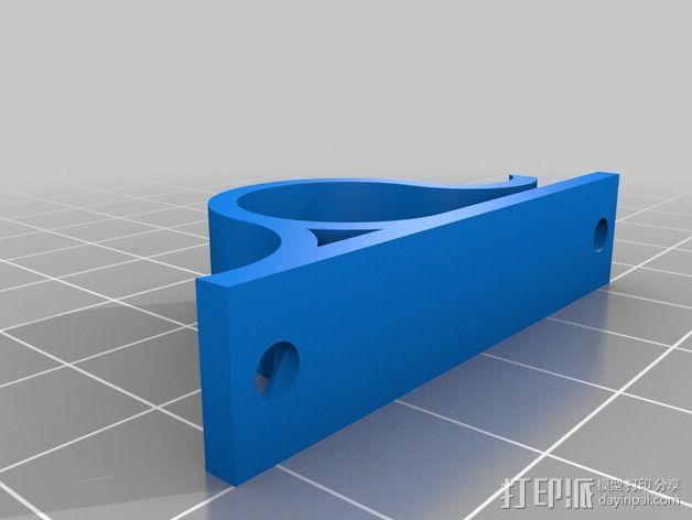 电缆夹 3D模型  图2