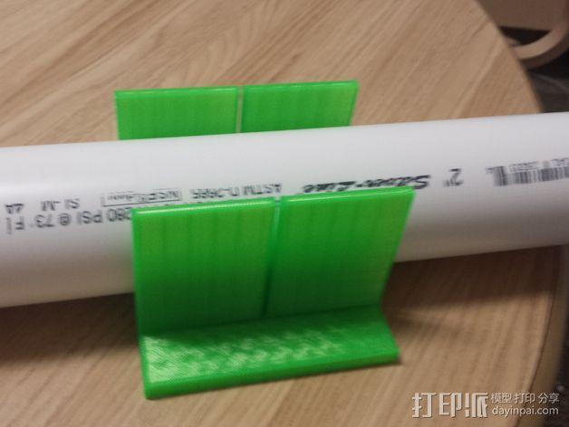 PVC管切削夹具 3D模型  图1