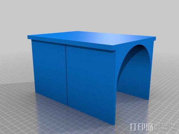 PVC管切削夹具 3D模型  图2