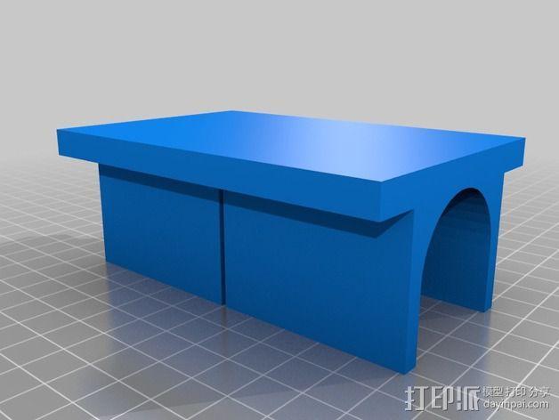 PVC管切削夹具 3D模型  图3