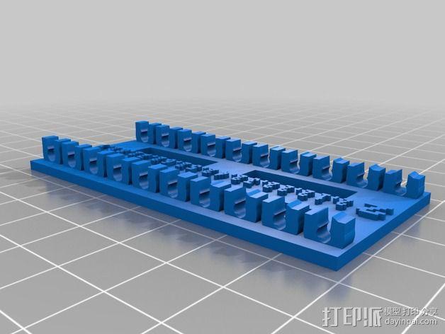 参数化钻头收纳架 3D模型  图4