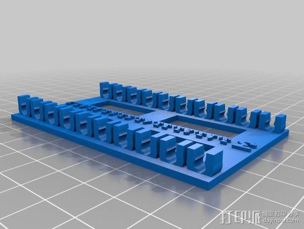 参数化钻头收纳架 3D模型  图5