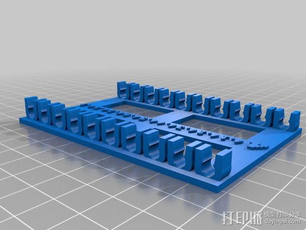 参数化钻头收纳架 3D模型  图6