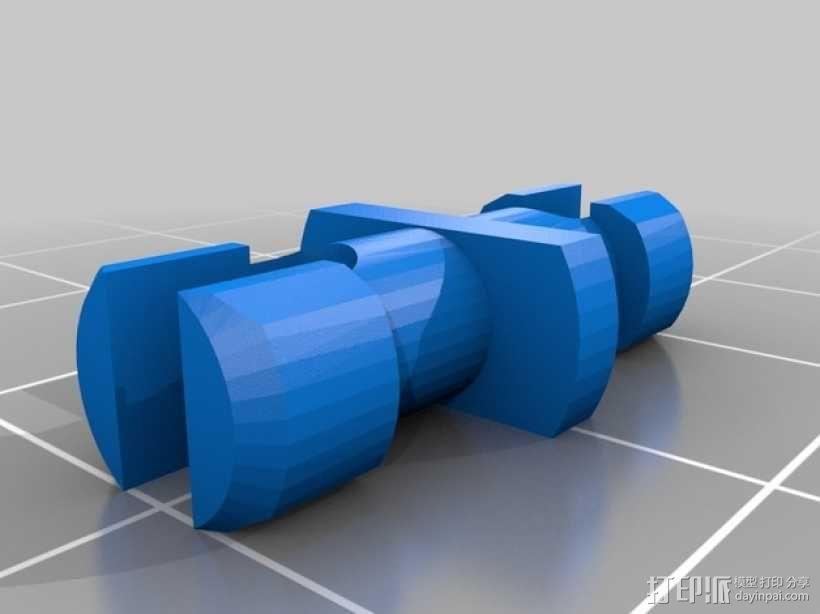 棘齿扳手把手 3D模型  图2