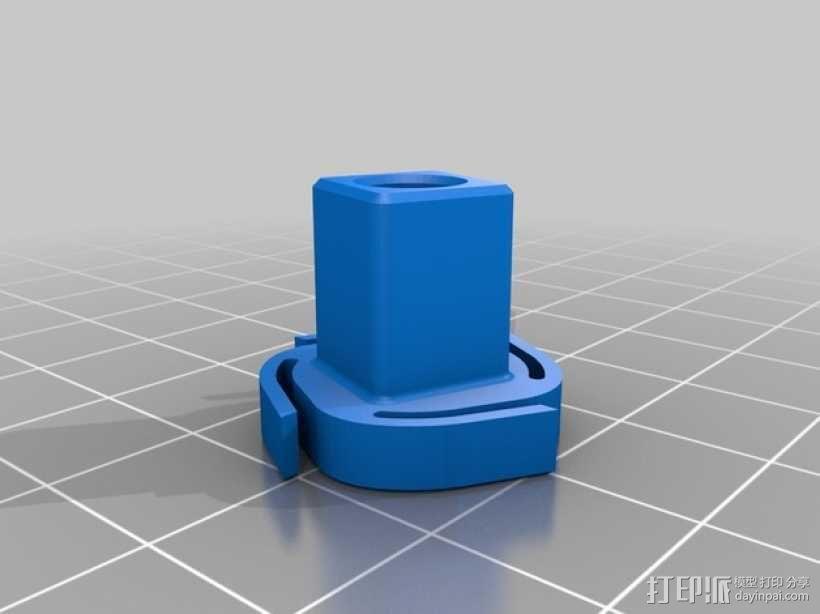 棘齿扳手把手 3D模型  图4