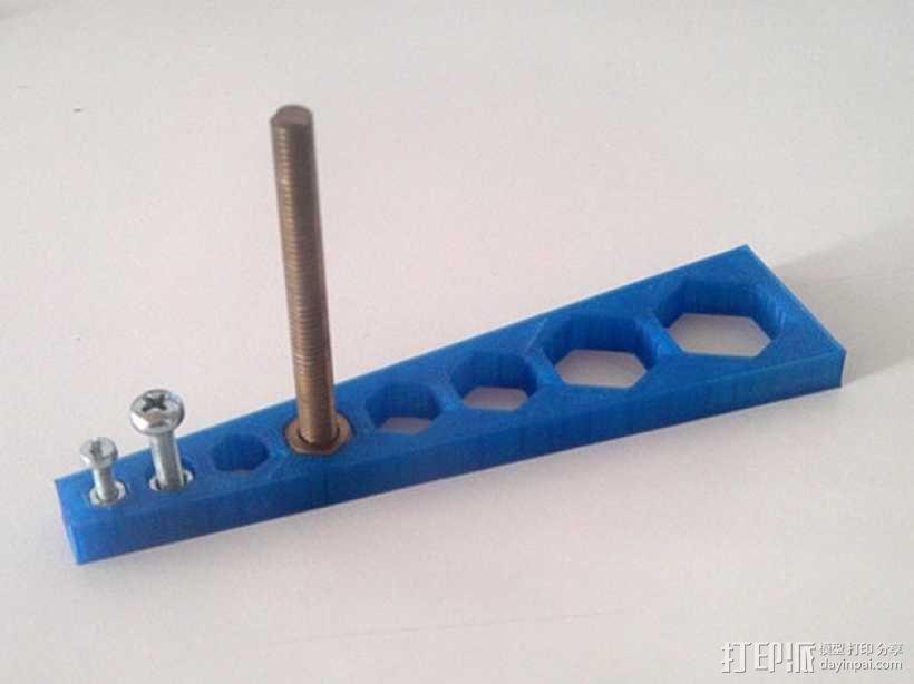 螺丝尺寸测量器 3D模型  图1
