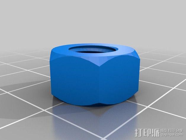 M8螺丝 3D模型  图3