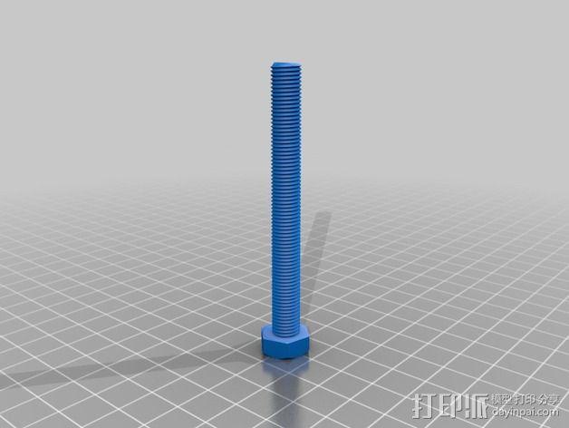 M8螺丝 3D模型  图2