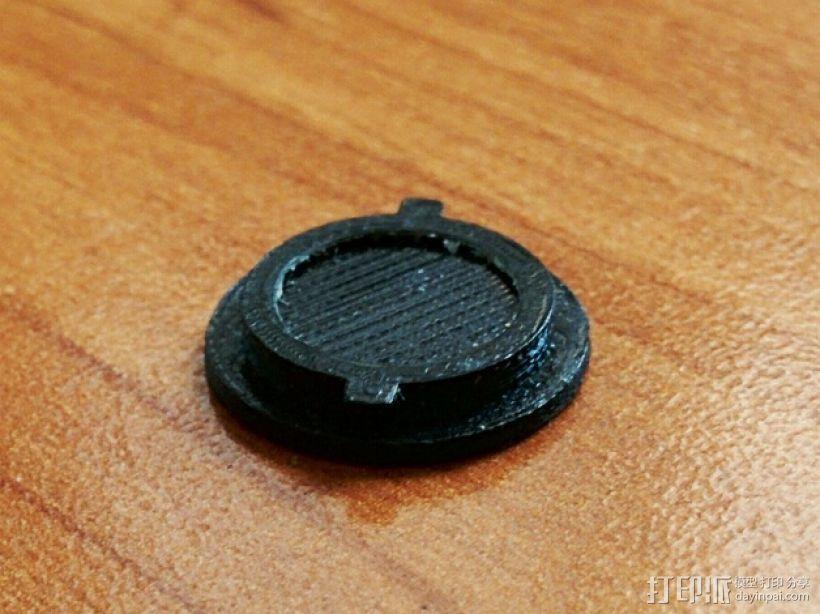 圆形电池盖 3D模型  图3