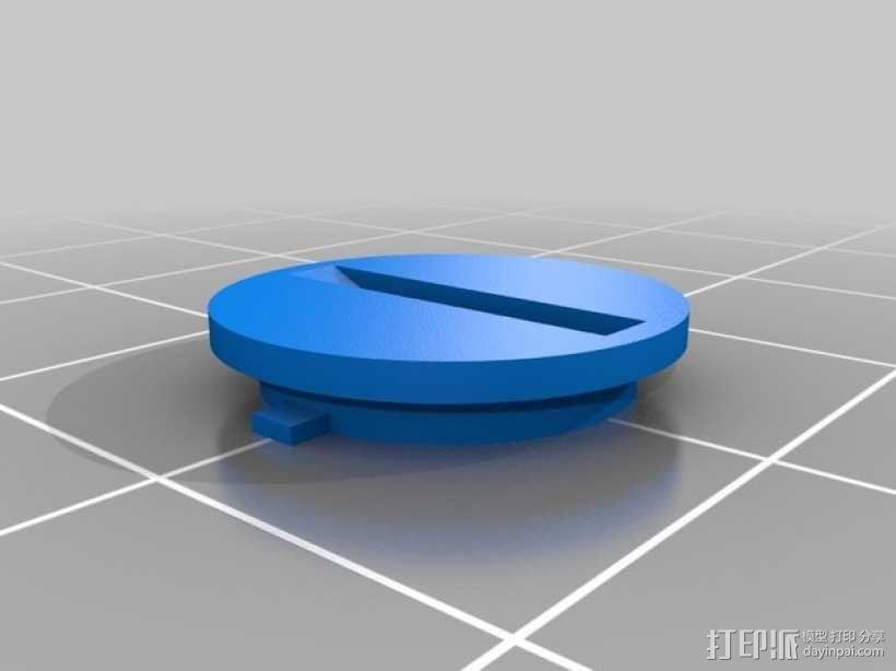 圆形电池盖 3D模型  图2