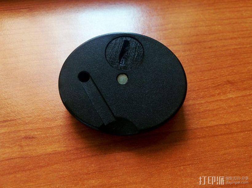 圆形电池盖 3D模型  图5