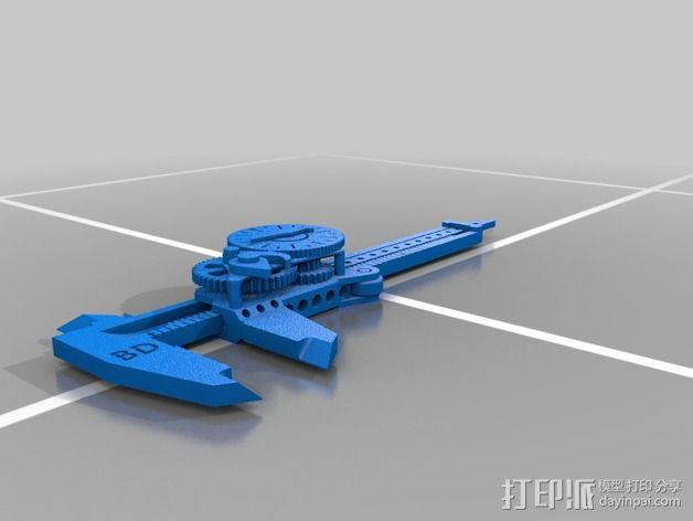 附表卡尺 3D模型  图2