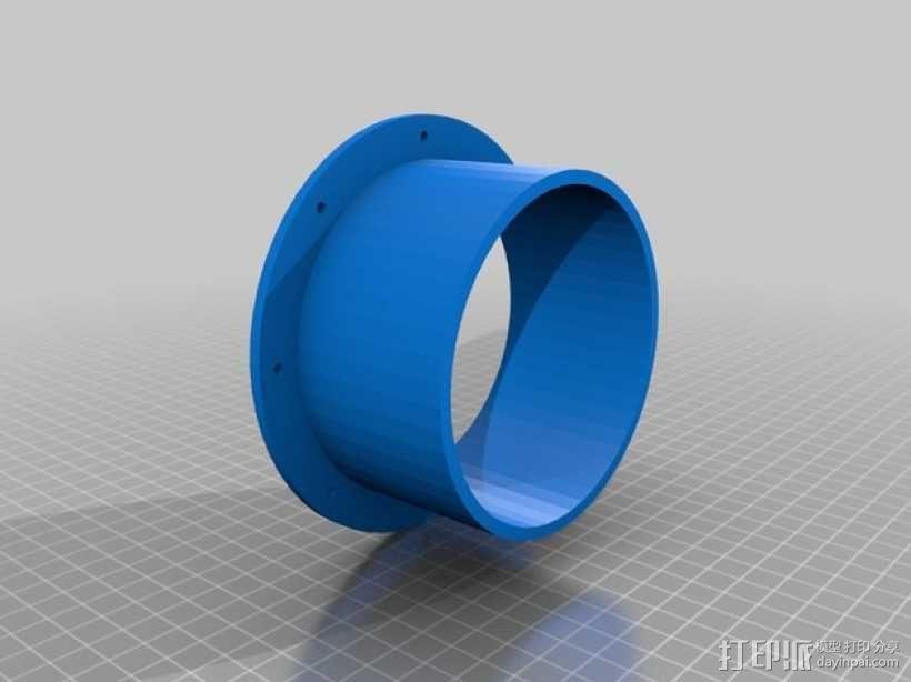 排烟机/排烟装置 3D模型  图2
