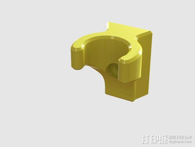 钓鱼竿固定架 3D模型  图1