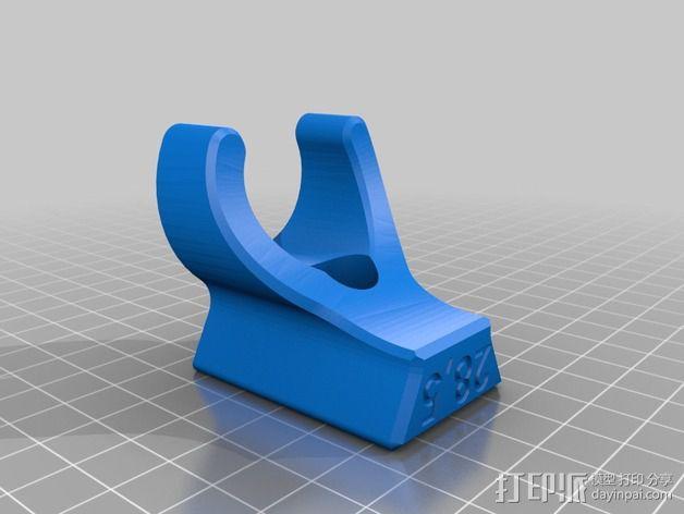 钓鱼竿固定架 3D模型  图2