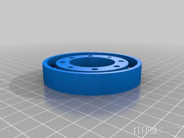 参数化画笔架 3D模型  图4