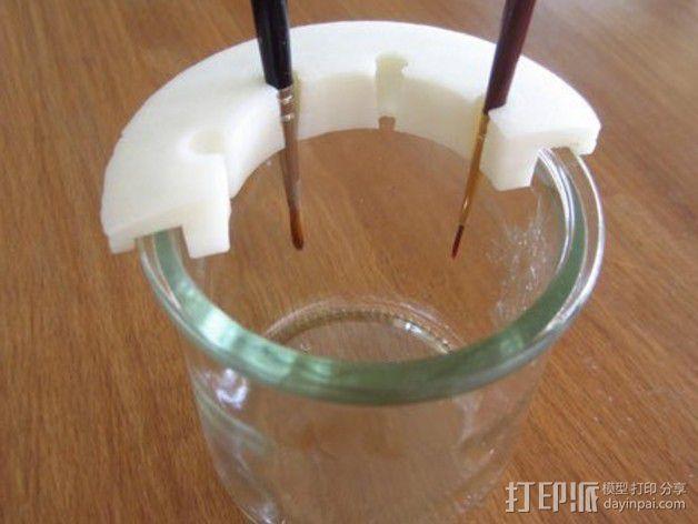 参数化画笔架 3D模型  图1
