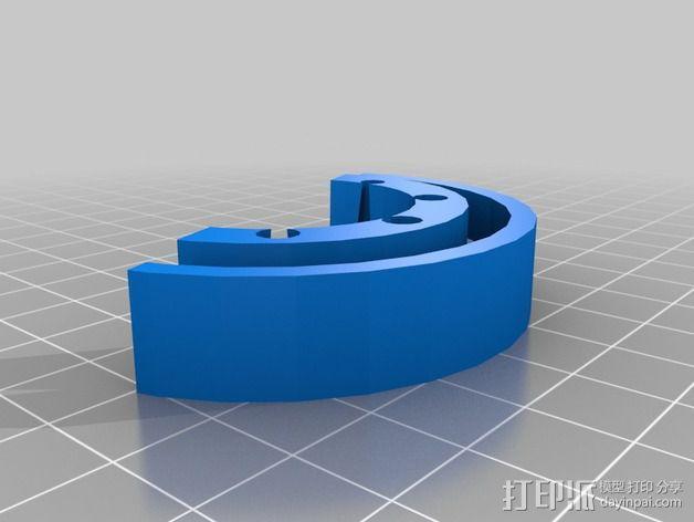 参数化画笔架 3D模型  图7