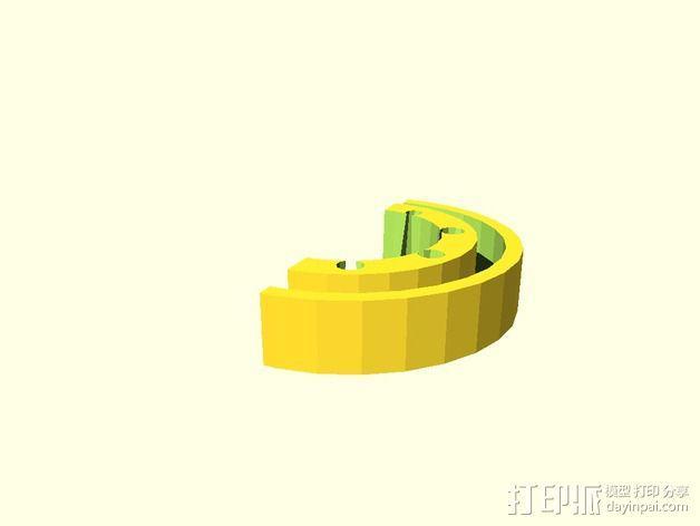 参数化画笔架 3D模型  图6