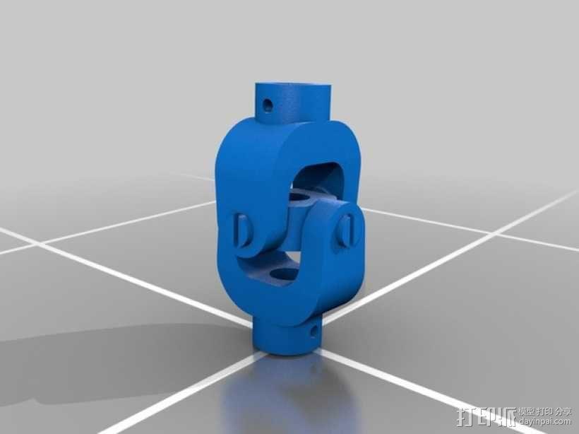 万向接头 3D模型  图1