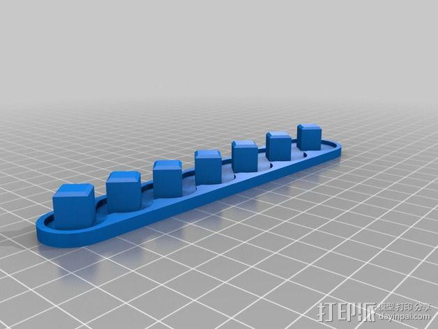 套接口收纳架 3D模型  图4