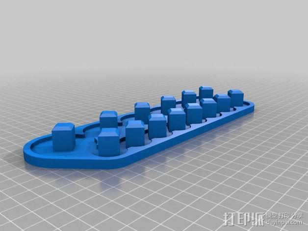 套接口收纳架 3D模型  图5