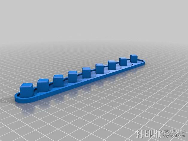 套接口收纳架 3D模型  图3