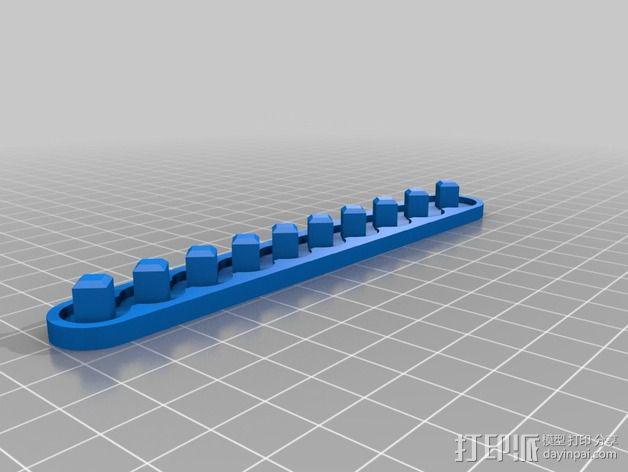 套接口收纳架 3D模型  图8