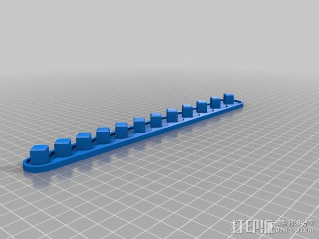 套接口收纳架 3D模型  图9