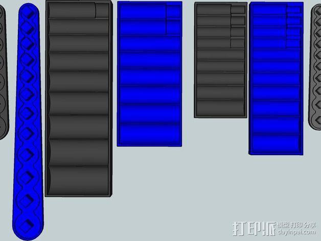 套接口收纳架 3D模型  图15