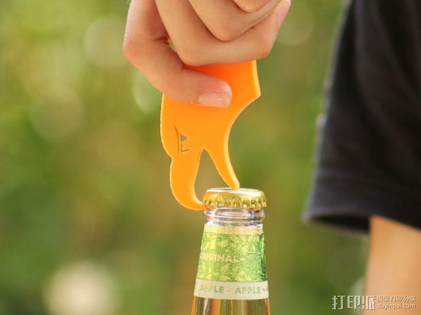 秃鹰 开瓶器 3D模型  图1
