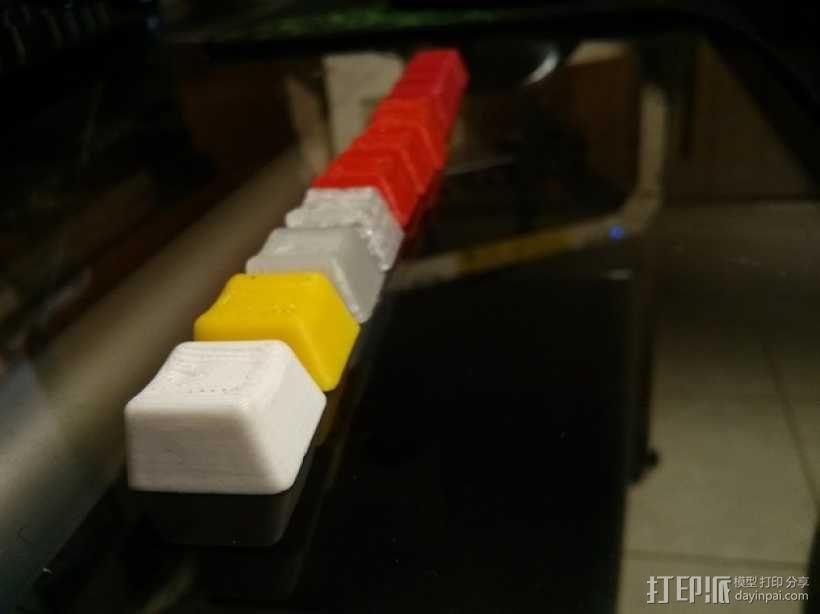 机械键盘按键键帽 3D模型  图5