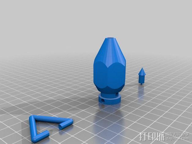 铅锤 3D模型  图2
