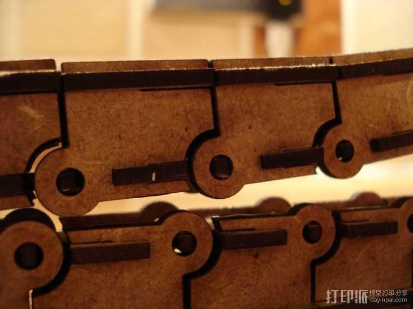 激光切割牵引链 3D模型  图4