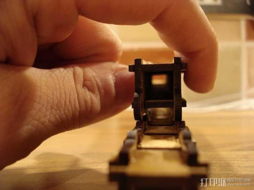 激光切割牵引链 3D模型  图3