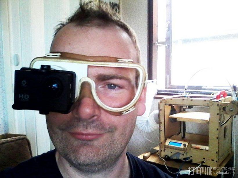 便携式GoPro相机架 3D模型  图1